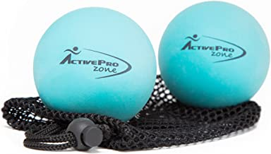 ActiveProZone Therapy Massage Ball - Instant Muscle Pain Relief. Proven Effective for Myofascial Release, Deep Tissue Pressure, Yoga & Trigger Point Treatments. Set - 2 Extra Firm Balls W/Mesh Bag.