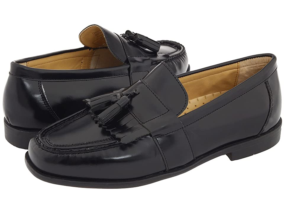 Nunn Bush Keaton Moc Toe Kiltie Tassel Loafer (Black Smooth Leather) Men
