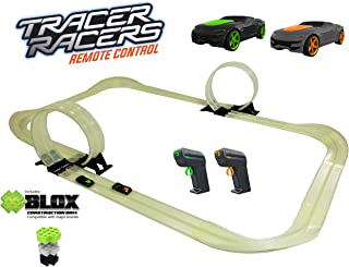 Tracer Racers R/C High Speed Remote Control Super Loop Speedway Glow Track Set with Two Cars for Dual Racing