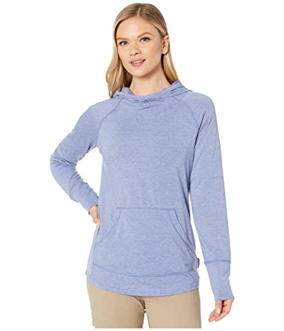ExOfficio BugsAway(r) Areia Hoodie (Admiral Blue Heather) Women