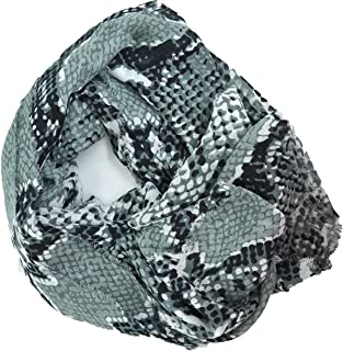 Black White Gray Heritage Python Women's Scarf