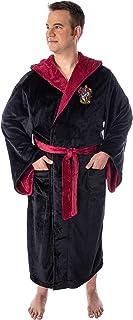 Harry Potter Adult Fleece Plush Hooded Robe - Big and Tall - Gryffindor, Slytherin, Ravenclaw, Hufflepuff, Hogwarts