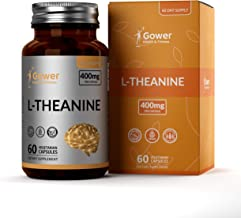 GH L Theanine 400mg High Strength Vegan Capsules | 60 Capsules Made from L-Theanine Powder | Clean Fillers, Gluten Free an...
