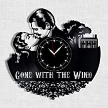 Gone with The Wind Vinyl Record Clock - Wall Clock Gone with The Wind - Best Gift for Gone with The Wind Lover - Original Wall Home Decor