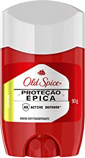 Desodorante em Barra Antitranspirante Proteção Épica Lenha 50 G, Old Spice