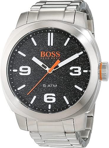 BOSS Orange Men's Quartz Watch with Stainless-Steel Strap, Silver, 22 (Model: 1513454)