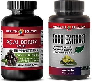 Energy Supplement preworkout - ACAI Berry - NONI - noni Herbal - 2 Bottles Combo 120 Capsules