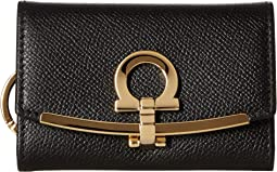 8eaabde9161ec Salvatore Ferragamo. Gancino Logo Checkbook Wallet.  595.00. Luxury. Nero