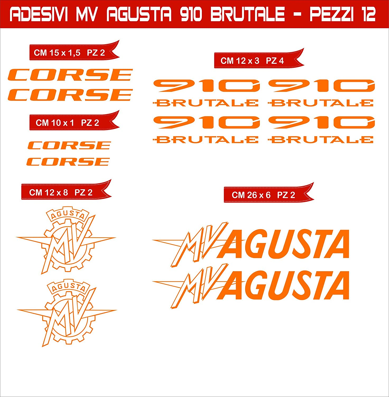 Aufkleber Stickers Mv Agusta Mvagusta 910 Brutale Motorrad Cod 0583 Arancione Cod 035 Sport Freizeit
