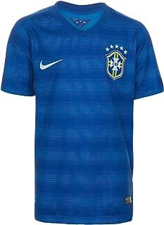 Youth Brazil Away Home Soccer Stadium Jersey 2014 (Varsity Royal/Football White)