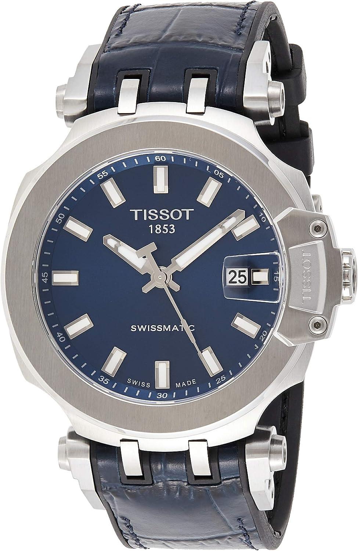 Tissot mens Japan Maker New Tucson Mall T-Race Stainless Steel T11540 Blue Black Sport Watch
