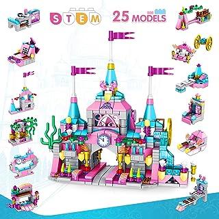 VATOS Prinzessin Burg Bausteine Spielzeug ab 6 7 8 9 10 11