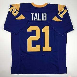 Unsigned Aqib Talib Los Angeles LA Retro Blue Custom Stitched Football Jersey Size Men`s XL New No Brands/Logos