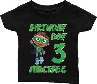 Personalize Super Why Whyatt Birthday Shirt