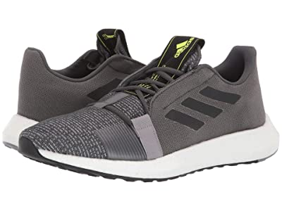adidas Running SenseBOOST GO (Grey Six/Core Black/Solar Yellow) Men