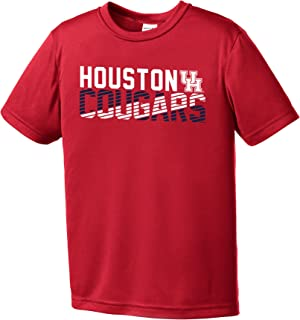 Image One Youth Boy's NCAA Diagonal Short Sleeve Polyester Competitor T-Shirt Small red