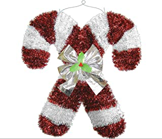amscan Deluxe Christmas Hanging Tinsel Candy Cane | Party Decoration, Red/White, 18