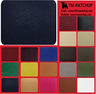 TMgroup, Leather Patches for Furniture, Genuine Leather Repair Patch kit, Peel and Stick for Couch, Sofas, car Seats, Hand Bags,Furniture, Size 6-inch x 3-inch (Navy Blue, Quantity : 1)