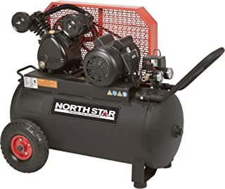 NorthStar Single-Stage Portable Electric Air Compressor - 2 HP, 20-Gallon Horizontal, 5.0 CFM