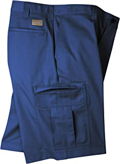Dickies Men's Premium Industrial Cargo Short, Navy Blue, 34