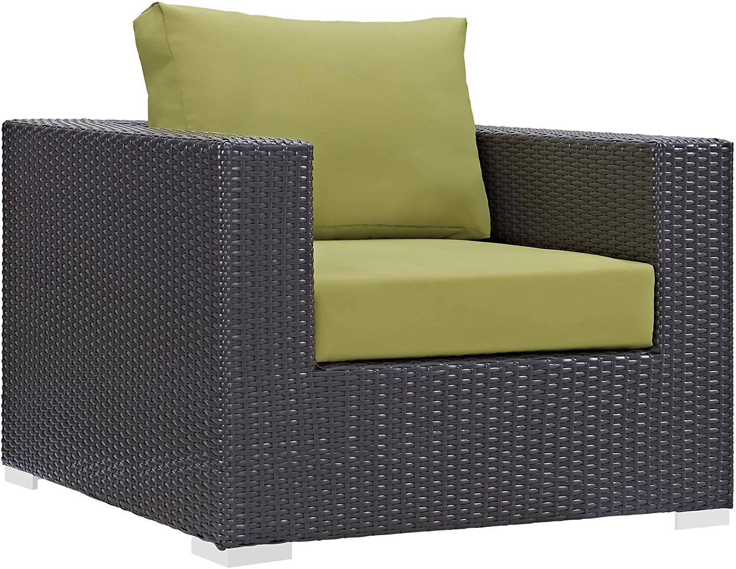Modway Convene Wicker Rattan Outdoor Max 88% OFF New product!! with Chair Cushio Patio Arm