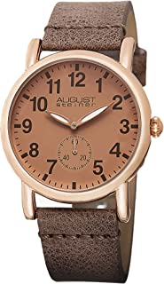 August Steiner Womens Quartz Watch, Analog Display and Leather Strap AS8110RG