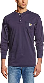 Men's Flame Resistant Force Cotton Long Sleeve Henley