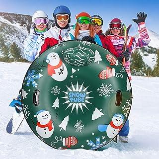 لوله برفی 48 اینچ پشت دیگر با قطر ضخیم تر 0.8 میلی متری مواد نظامی سورتمه برفی بادی برای کودکان و بزرگسالان لوله های سورتمه ای با دوام طولانی تر لوله های برفی بادی سنگین