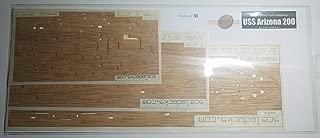 Premium Wood Deck for 1/200 USS Arizona (fits Trumpeter Kit)