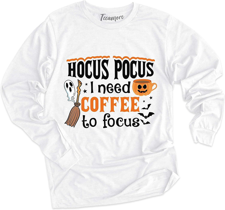 Hocus Pocus I Need Coffee to Focus Sweatshirt Funny Witch Mom Halloween Hoodie