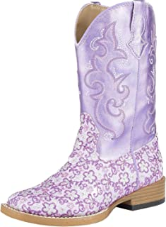 Lavender Square Toe Purple Boots