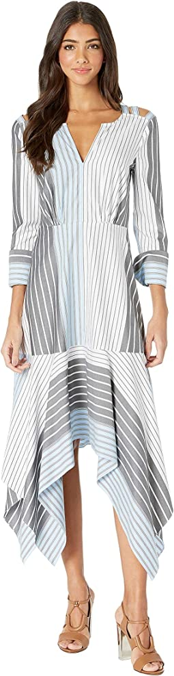 Mixed Stripe Patchwork Dress