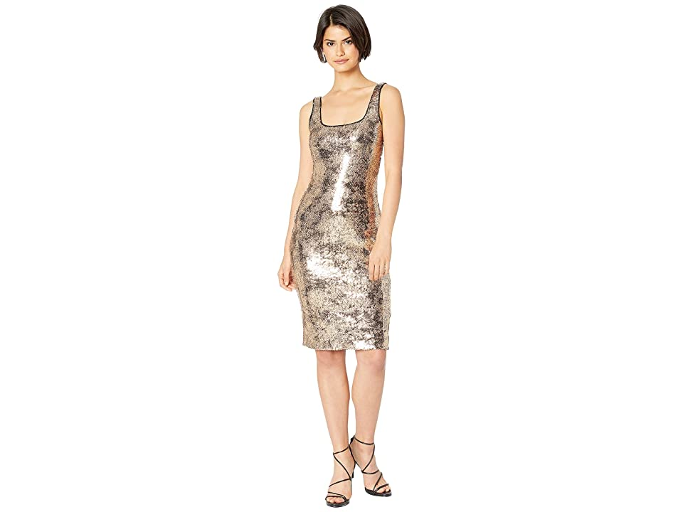 Bardot Sequin Neve Dress (Gold Foil Sequin) Women