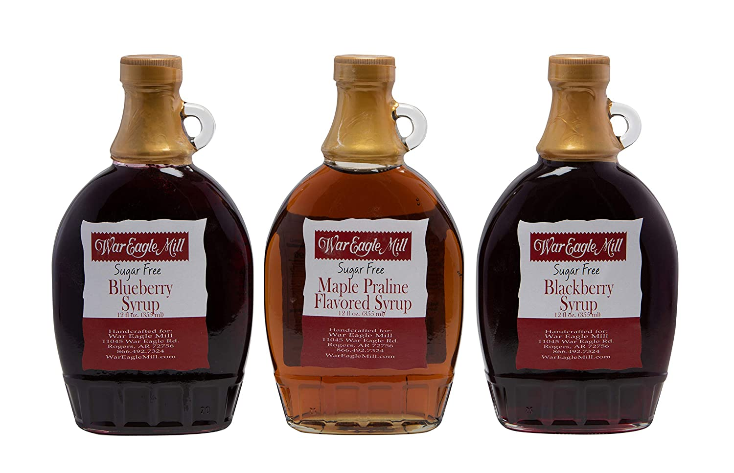 War Eagle Mill 3 Pack Popular overseas Sugar Free Max 62% OFF Syrups oz. Praline 12 - Maple