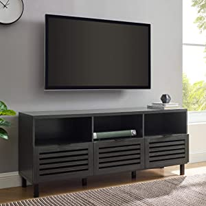 Walker Edison Modern Wood Stand with Slat TV's up to 65