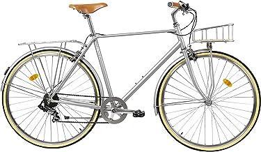 Fabric City Classic- Bicicleta de Paseo Urbana Vintage Retro, Bicicleta de Ciudad con Cambios Shimano, Cesta y Parrilla. Sillín cómodo y Confortable.