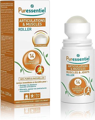 Puressentiel - Articulations et Muscles - Roller aux 14 Huiles Essentielles - Soulage les douleurs musculaires et art...
