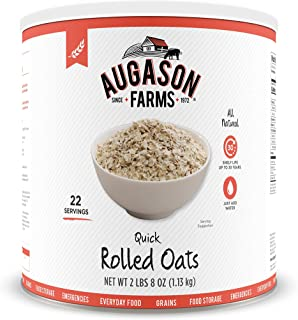 Augason Farms Quick Rolled Oats 2 lbs 8 oz #10 Can