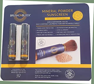 Brush On Block Mineral SPF 30 Powder Sunscreen 2 Count in 1 Pack, 2 Count