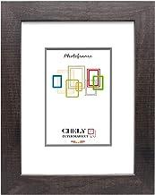 Chely Intermarket, Marco de Fotos Grande 30x40 cm (Marrón Oscuro) Mod-204   Estilo galería   Marco de Madera para Decoración de Casa   Fotografías de Boda   moldura con Relieve