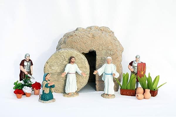 Easter Creche Resurrection Scene Display 7 Piece Set Garden Accessories