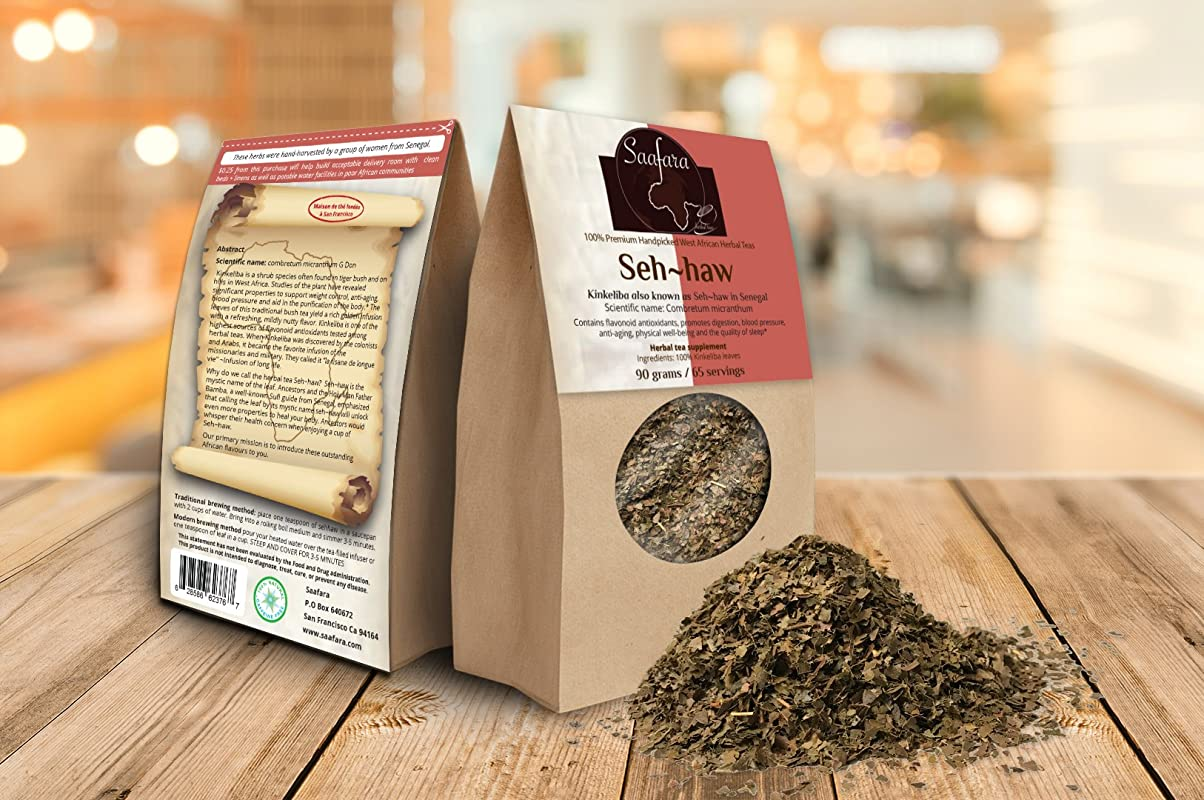 Saafara Herbal Teas Seh Haw 180 Grams 130 Servings Pack Of 2 Kinkeliba Leaves