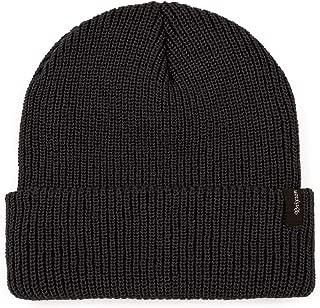 Dunpaiaa Skull Caps Hail Seitan Go Vegan Logo Winter Warm Knit Hats Stretchy Cuff Beanie Hat Black