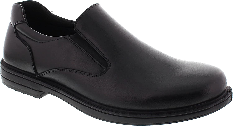 Deer Stags Men's 902 King-Vega Twin Gore Slip-On Oxford shoes Black