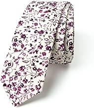 Spring Notion Men's Floral Print Cotton Skinny Tie