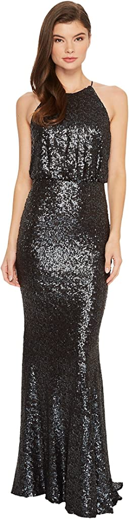 Badgley Mischka 30s Drop Waist Sequin