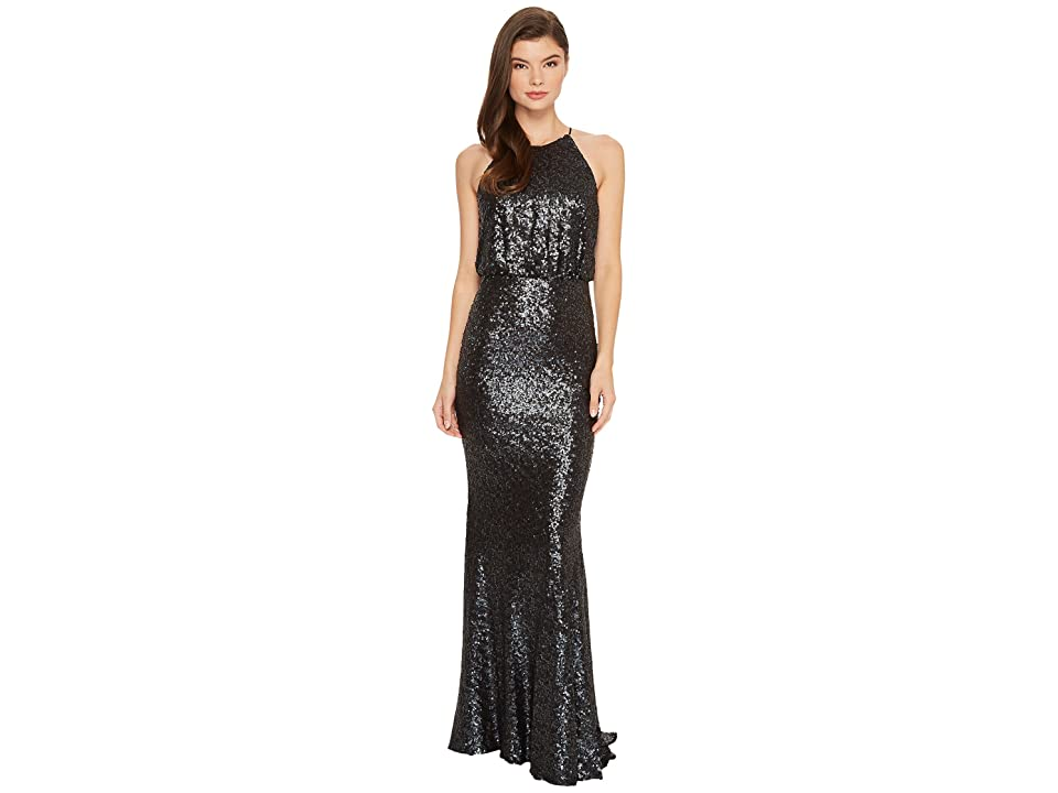 Badgley Mischka 30s Drop Waist Sequin (Navy Multi) Women