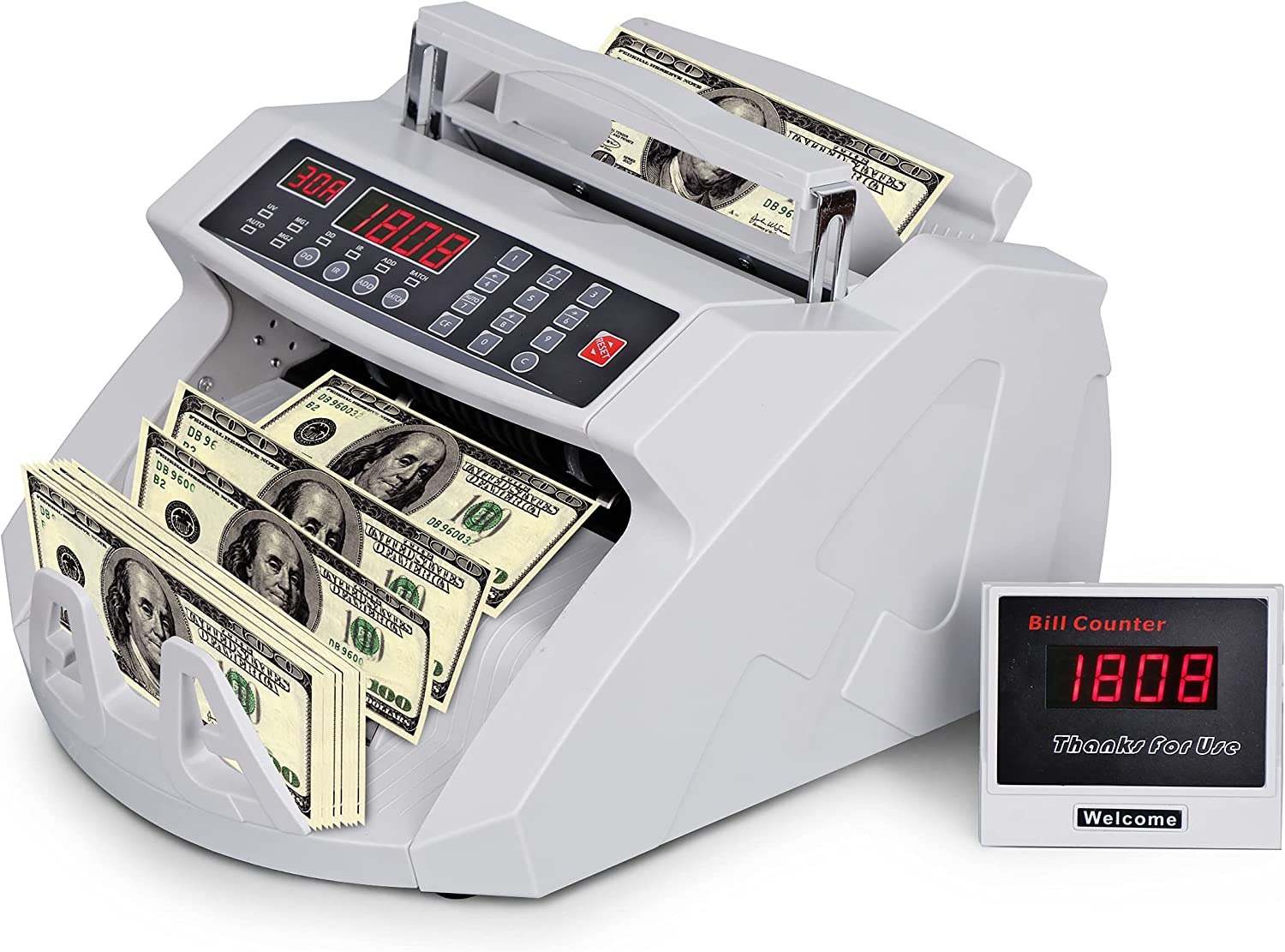 LEMY Money Counter Machine with Count Value IR of UV 2021 model - MG Bills Challenge the lowest price of Japan ☆