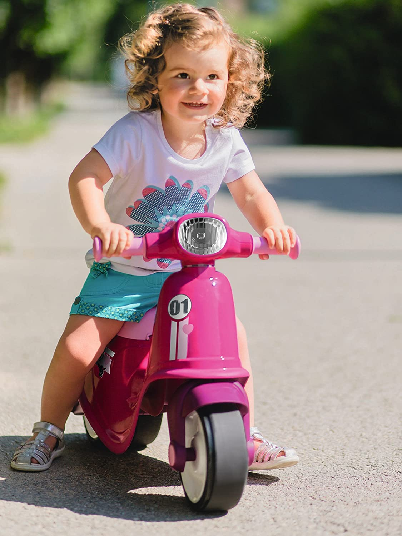 BIG 800056376 - Classic-Scooter Girlie Kinderfahrzeug, rosa Rosa