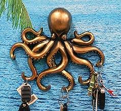 Ebros Gift The Call of Cthulhu Deep Sea Kraken Octopus Monster Wall Mount Key Holder Tentacle Hooks Sculpture Plaque Figurine 11.25